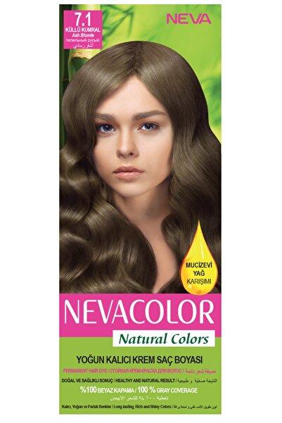 Neva Color Natural Colors 7.1 Küllü Kumral - Kalıcı Krem Saç Boyası Seti 8681655541723
