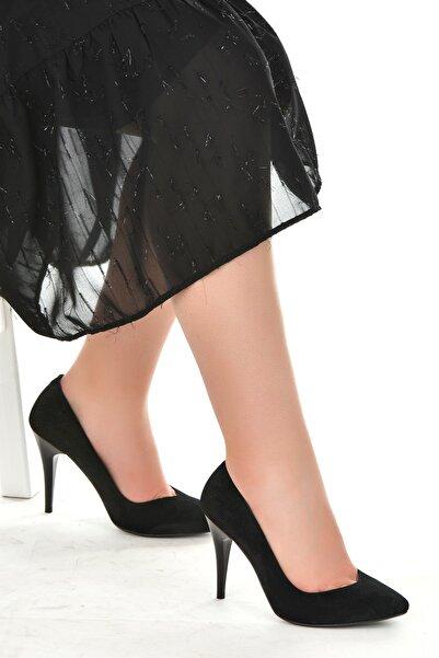 Ayakland 1943-72 Süet 11 Cm Topuk Kadın Stiletto Ayakkabı