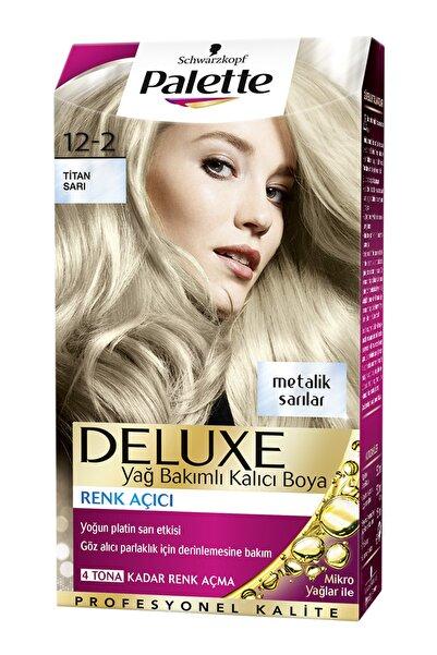 Palette Deluxe 12-2 Titan Sarı - Yağ Bakımlı Kalıcı Saç Boyası