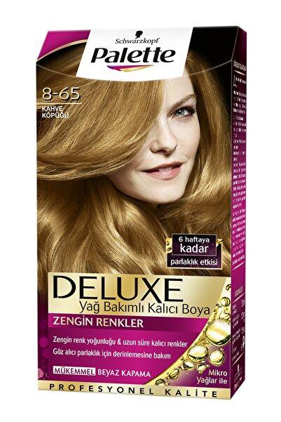 SCHWARZKOPF HAIR MASCARA Palette Deluxe 8-65 Kahve Köpüğü - Yağ Bakımlı Kalıcı Saç Boyası