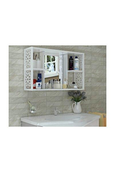MONTANA Terek Aynalı Banyo Dolabı Beyaz