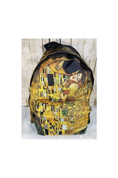 Köstebek Gustav Klimt - The Kiss Sırt Çantası