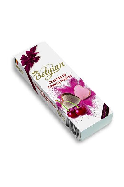 BELGIAN Kirazlı Kalp şekilli pralin çikolata 65g