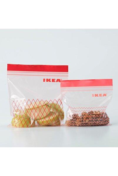 IKEA ISTAD- Kilitlenebilir Buzdolabı Poşeti - 60 Adet - Kırmızı