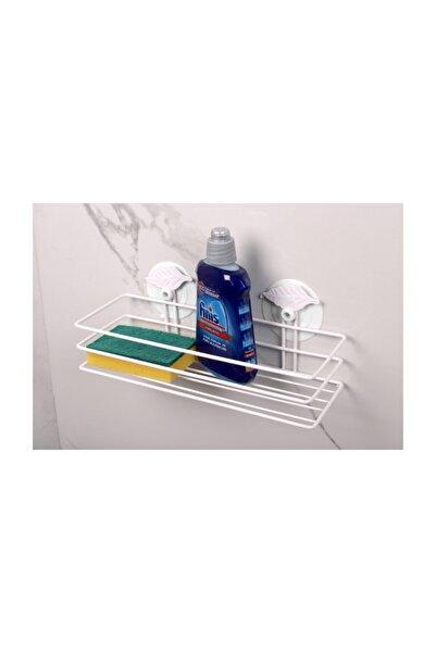 ORSA Home Vakumlu Banyo Rafı Şampuanlık Güçlü Vantuzlu Silikon Kaplama