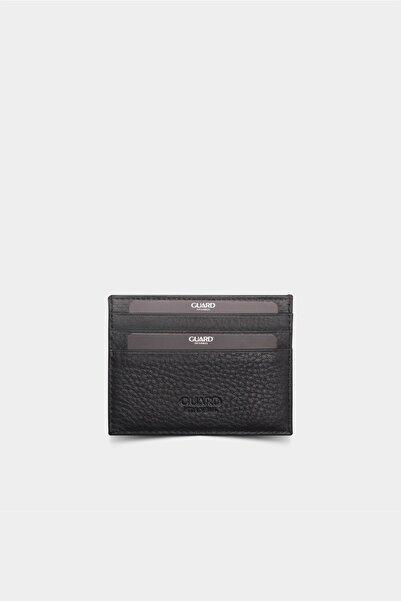 Guard Leather Smart Mat Siyah Deri Kartlık