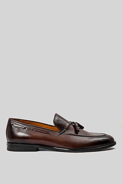 Lufian Care Deri Loafer Ayakkabı Kahverengi