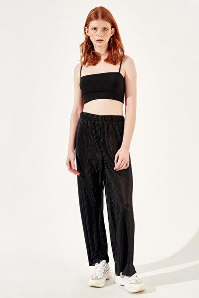 Manche Siyah Kadın Pantolon   Mk20s661006