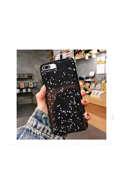 Kılıfsiparis Iphone 7 Plus 8 Plus Uyumlu Siyah Simli Silikon Telefon Kılıfı