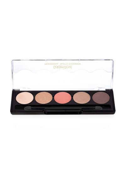 Golden Rose 5'li Göz Farı - Professional Palette Eyeshadow No: 106 Nude Pink 8691190071066