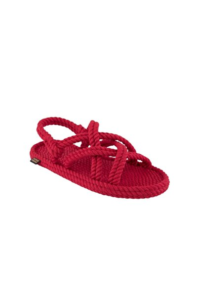 Nomadic Republic Kadın Bodrum Halat & İp Sandalet - Kırmızı