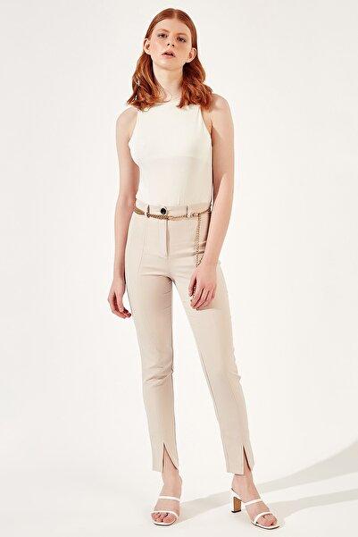 Manche Bej Kadınön Paça Yırmaçlı Pantolon   Mk20s665216