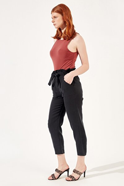 Manche Siyah Kadın Pantolon   Mk20s661008