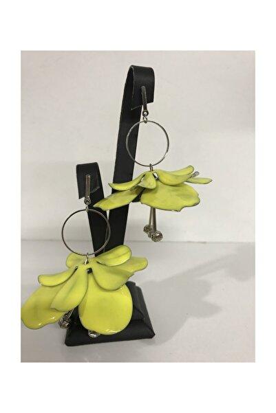Mima Sarı Çiçekli Küpe
