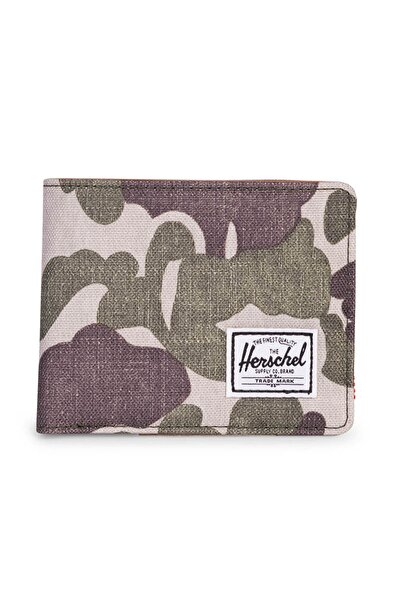 Herschel Supply Co. Unisex  -  Hank RFID Frog Camo/Tan Synthetic Leather - 10368-01858-OS