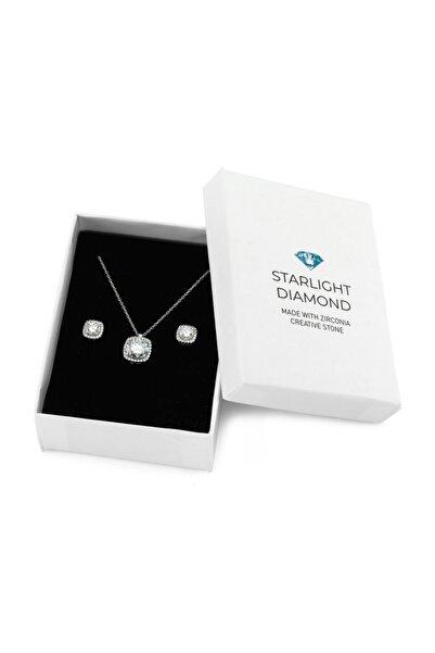 Starlight Diamond 925 Ayar Kare 2'li Gümüş Takı Seti SDSET