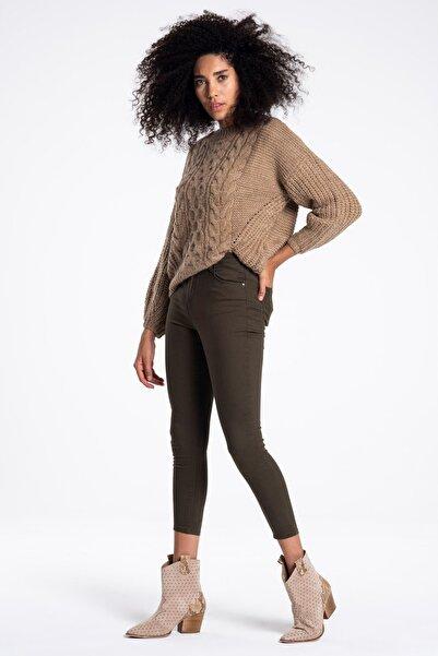 TIFFANY&TOMATO Kadın Haki Basıc Denım Pantolon K20041PNT891DTD1