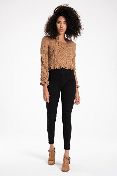 TIFFANY&TOMATO Kadın Siyah Basıc Denım Pantolon K20041PNT891DTD1