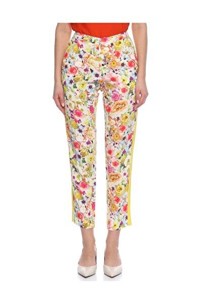 MSGM Çiçek Desenli Sarı Pantolon