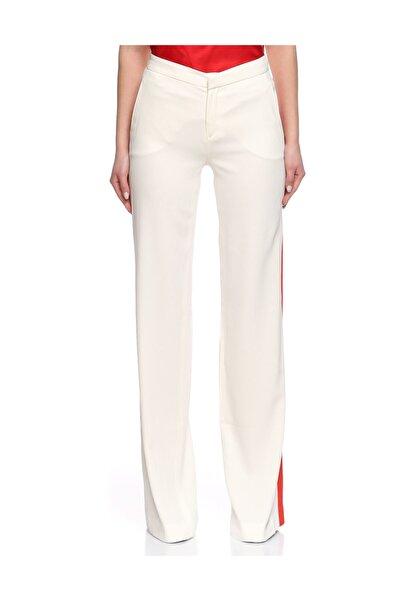 MSGM Geniş Kesim Beyaz Kırmızı Pantolon