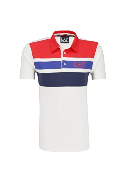 EA7 Slim Fit Polo T-shirt -3zpf63-pj20z-25br