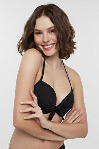 Kadın Siyah Basic Cup Bikini Üstü
