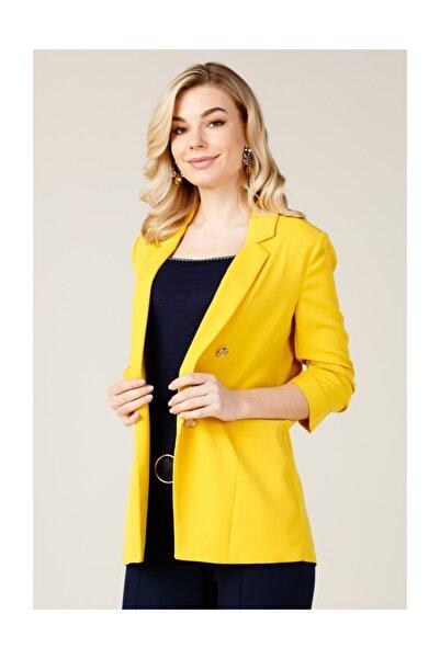 Ekol Kadın Sarı Blazer Ceket