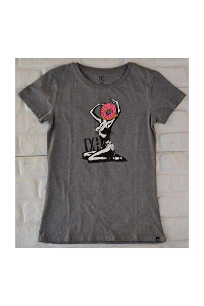 DC Camera Tee Frst Gry Kadın Tişört