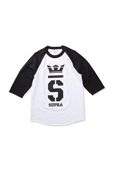 Supra Champ 3/4 Raglan White Blk Blk Tişört