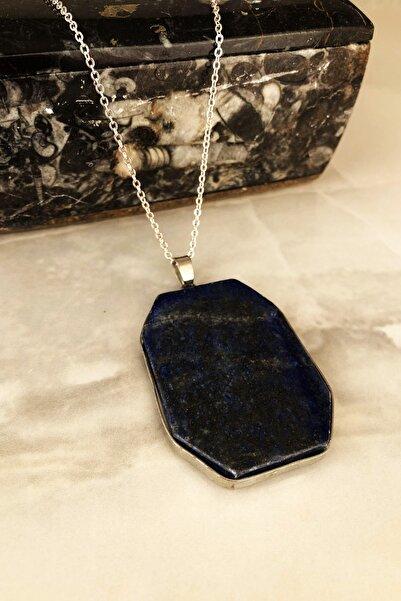 Dr. Stone Doğaltaş Kadın Lapis Lazuli Taşı Kolye Ahl1
