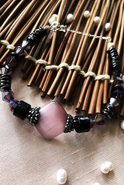 Dr. Stone Dr Stone Luxury Collection Kedigözü, Kristal Ve Hematit Taşı 925 Ayar Gümüş Kadın El Yapımı Bileklik