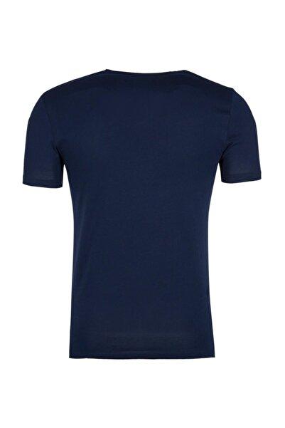 Erkek Lacivert T-Shirt - Cdr4884