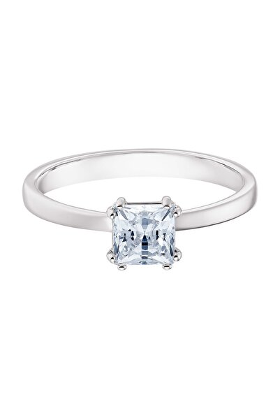 Swarovski Yüzük Attract:Ring Sq Engage Czwh/Rhs 58 5402444