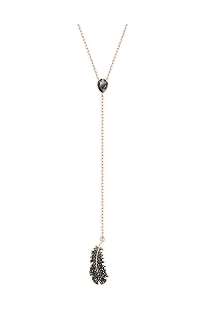 Swarovski Kolye Naughty:Necklace Y Jet Hem/Ros 5495299