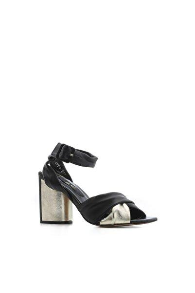 İLVİ Kadın Bianka Siyah Deri Ayakkabı