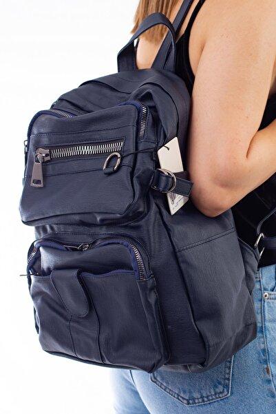 Limoya Bags Sally Lacivert Kadın Sırt Çantası
