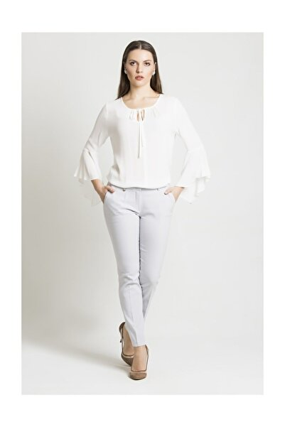 Chima Kadın Gri Dar Paça Pantolon Y18PA024