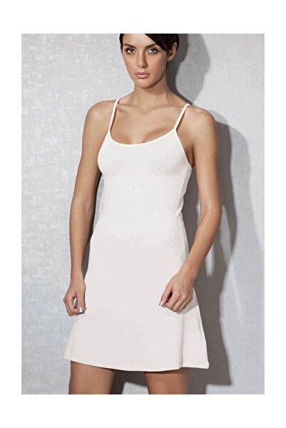 Doreanse Kadın Modal Beyaz Askılı Jüpon Kombinezon 11128