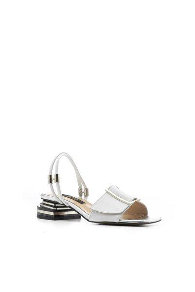 Marsh Kadın Sandalet Beyaz Deri