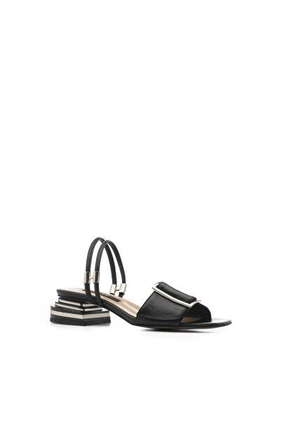 İLVİ Marsh Kadın Sandalet Siyah Deri