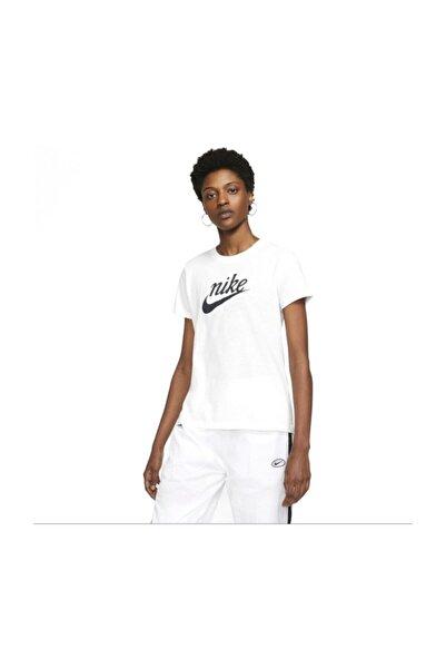Nike W Nsw Tee Varsıty Kadın Günlük Tişört Ck4371-100