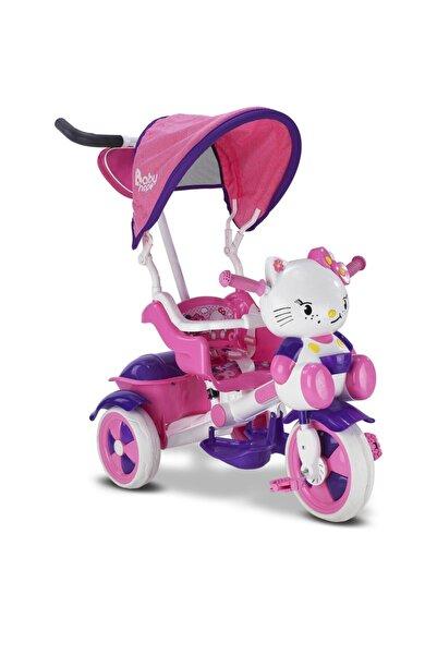 BabyHope 2020 Model Çantalı 135 Kety Üç Teker Ebeveyn Kontrollü Arkadan Itmeli Bisiklet, Kız Bebek Bisikleti