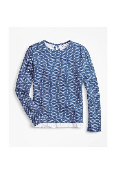 BROOKS BROTHERS Kadın Mavi Çiçek Baskili Bluz 1-00107993