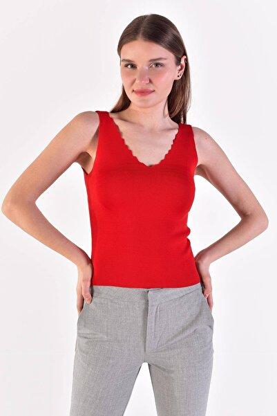 Addax Kadın Kırmızı Triko ADX-0000022111