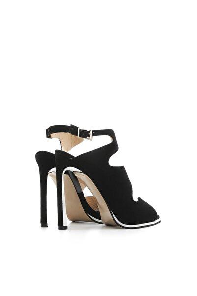 Brigy Kadın Sandalet Siyah Süet