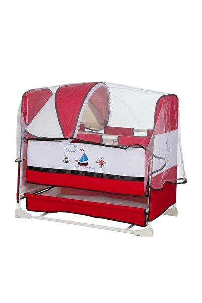 Niniko 0-1,5 Yaş Gemili Sallanabilir Tenteli Bebek Beşiği
