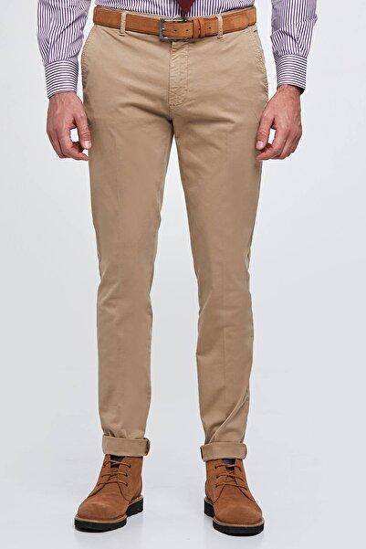 Hemington Erkek Pamuk Camel Chino Pantolon