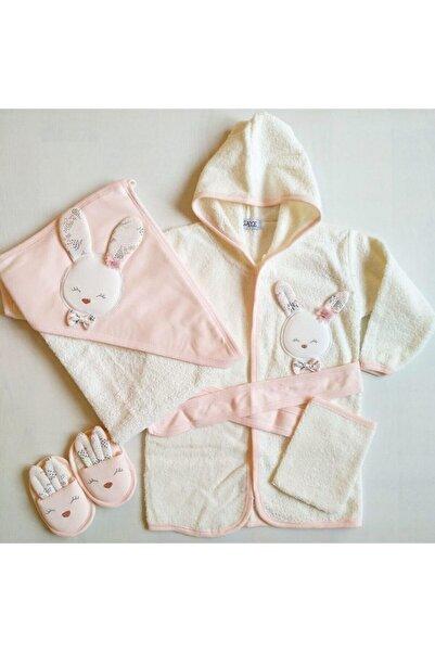 Gaye Bebe 826 Kız Bebek Pamuklu Bornoz Seti