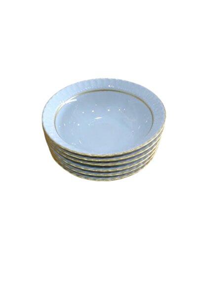 Kütahya Porselen 13 Cm Sedef Yaldızlı Kase 6 Adet