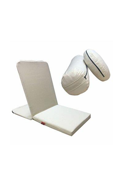 REMEGE Meditasyon Sandalyesi (back Jack) + Meditasyon Minderi + Bolster 3'lü Set
